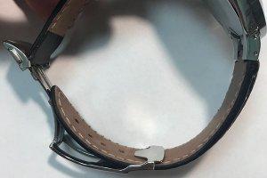 Изготовление кожаного ремня для часов.